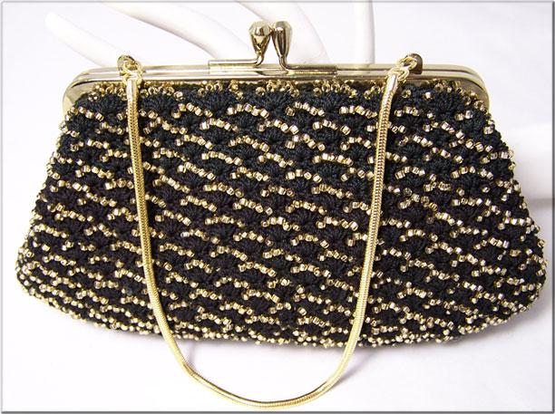 3 элегантные сумочки с бисером, связанные крючком.  Прочитать целикомВ.